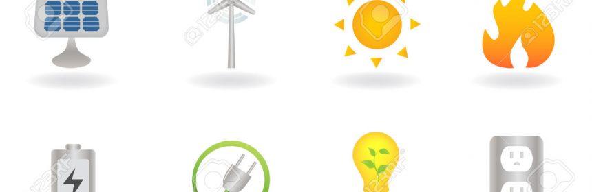 8193434-Simboli-di-energia-e-ambiente-pulito-alternativi--Archivio-Fotografico